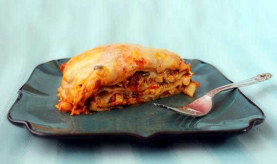 lasagna de pollo y vegetales sazonboricua