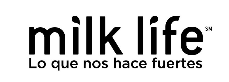 Milk-Life logo and tagline