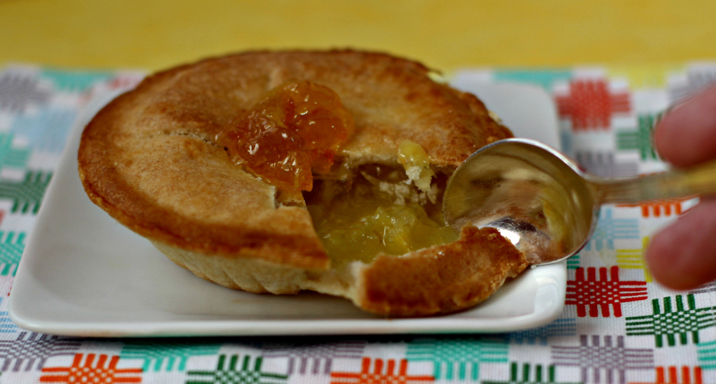 mini pie de piña