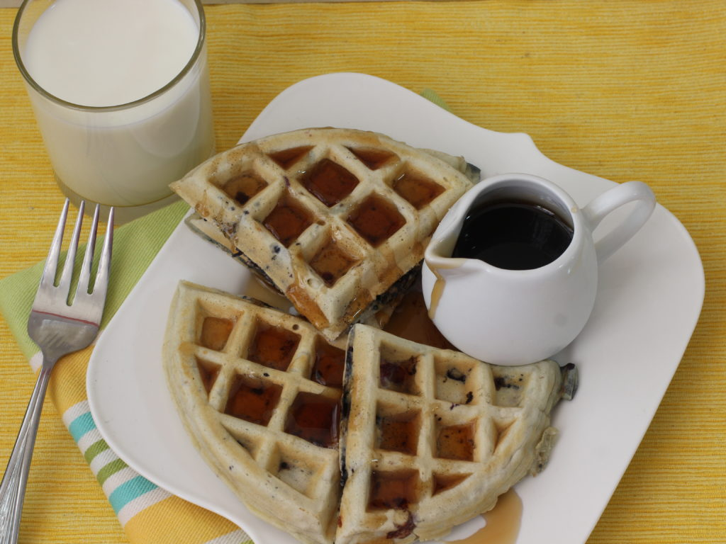 waffles de avena y blueberries3