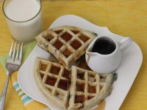 waffles de avena  y blueberries3