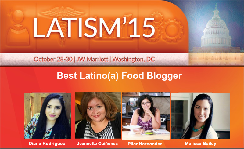 Nominada como Best latina Food Blogger