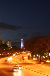 Vista del Monumento a la Bandera, Rosario, Argentina