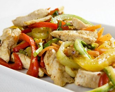 Chicken pepper stir fry